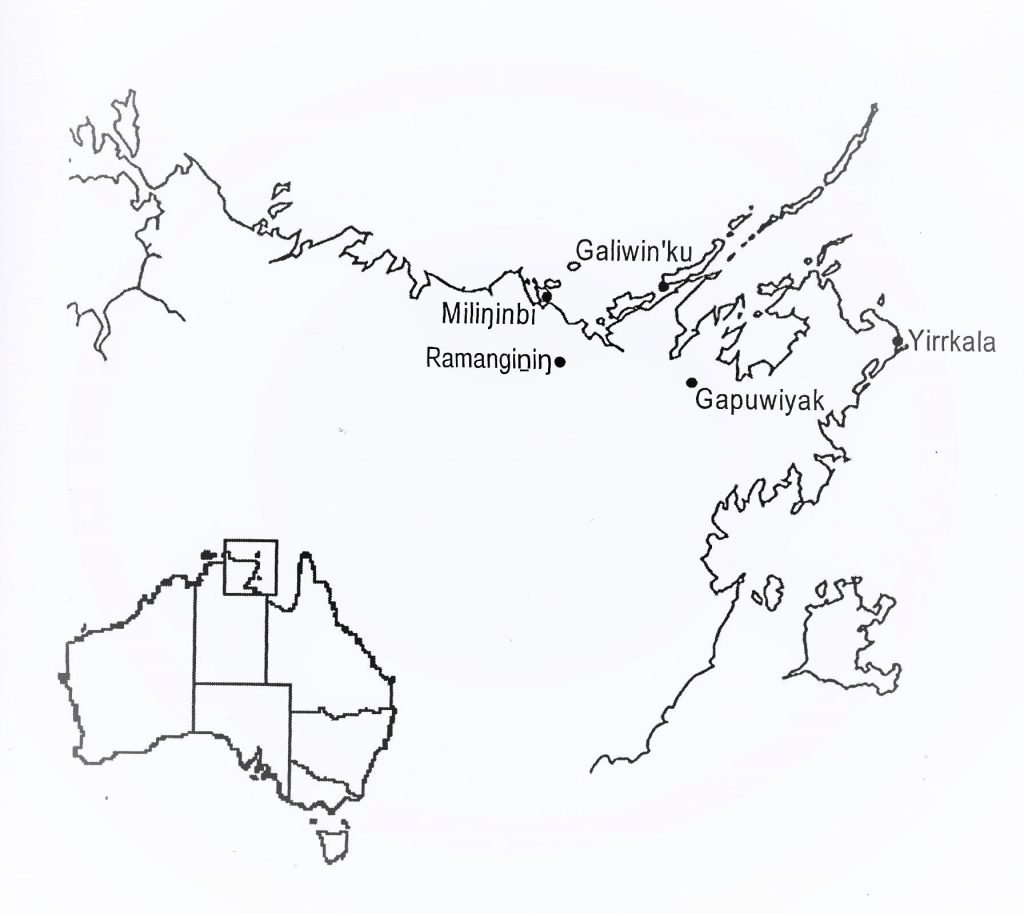 Northeast Arnhem Land, the home of the yiḏaki
