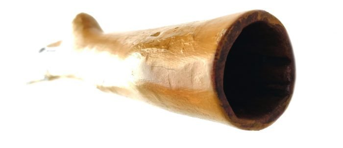 Wapurrpurr Wunungmurra yidaki (HLY-236) mouth