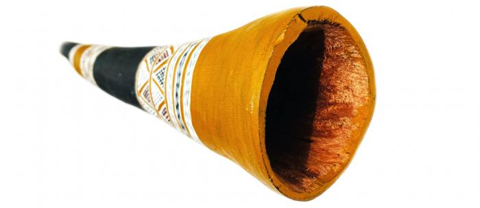 Balku Wunuŋmurra yidaki F/G (HLY-257) bell